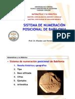 Sistema de Numeracion Babilonia