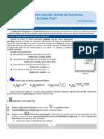 ¿Cómo calcular límites de funciones con la Class Pad