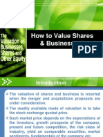 6 6 Valution of Shares