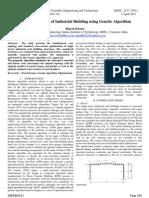 Cost Optimization of Industrial Building using Genetic Algorithm