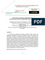 Knowledge and Skill Requirements in the Installation of Prefabricated Members