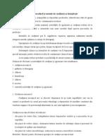 Procedură și metode de curățenie și dezinfecție