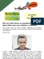 MD terá Lídia Moura na presidência da Paraíba e Major Fábio como pré-candidato ao Governo