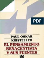 El Pensamiento Renacentista y Sus Fuentes Kristeller