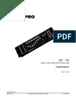 DMX Lightning Controller Manual