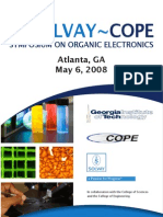 2nd Solvay~Cope Symposium on Organic Electronics Atlanta, Ga May