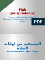 Fiqh 3 (Book Of Salah)