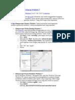 4 Tips Mempercepat Kinerja Windows 7