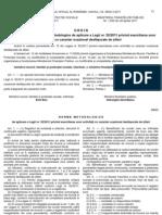 Norme de Aplicare a Legii 50 Din 2011