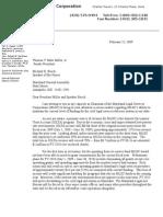 Letter to Legis Leadership