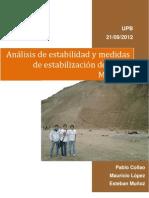 Analisis de Estabilidad y Medidas de Estabilizacion Del Talud Misicuni