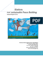 Reconciliation  For Sustainable Peace Building  Annual Report 2011