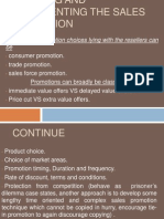 4 Planning and Implementing the Sales Promotion