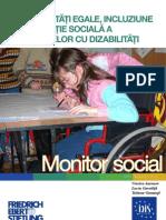 Monitor Social 4 Oportunitati Egale, Incluziune Si Protectie Sociala a Persoanelor Cu Dizabilitati