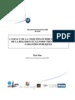 2012-04 LEM Impact de La Crise Sur Les Finances Publiques Belge
