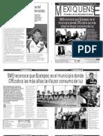 Versión impresa del periódico El mexiquense 18 abril 2013