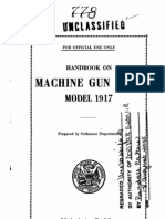 1918 Handbook on Machine Gun Cart Model 1917