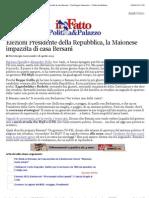 A Elezioni Presidente Della Repubblica, La Maionese Impazzita Di Casa Bersani - PierGiorgio Gawronski - Il Fatto Quotidiano