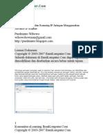 Melihat Aktivitas Dan Scanning IP Jaringan Menggunakan Advance IP Scanner