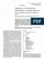Application of Identification Methodology to Shaking Table Tests on Reinforced Concrete Columns