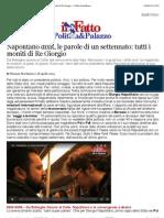 A Napolitano Dixit, Le Parole Di Un Settennato