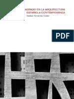 2005 Esteban Fernández Cobián - El espacio sagrado en la arquitectura española contemporánea