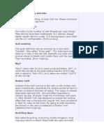 Denim Terminology and Links