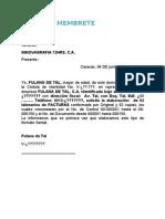 Modelo de La Carta Seniat Per Juridica 3 Blocks 1a Vez