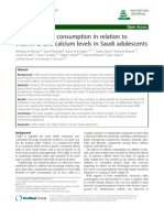 Tea and Coffee Consumption in related to vit D and Calsium