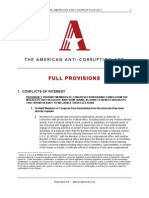 The American Anti-Corruption Act Full Provisions