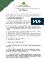 EDITAL PROCESSO SELET 01-2013