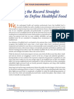 The Prevention Institute's Strategic Alliance defines a 'Healthful Food'