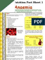 Fact Sheet 1 Anaemia