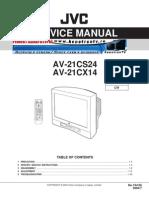 JVC AV-21CS24 AV-21CX14 Service Manual