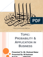 Probability & Application in Business