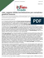 A Fmi, Lagarde Rischia Incriminazione Per Corruzione Da Giustizia Francese - Il Fatto Quotidiano