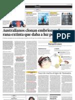 Australianos Clonan Embriones de Una Rana Extinta Que Daba a Luz Por La Boca