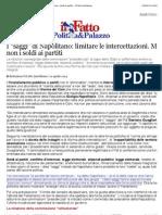 """a I """"saggi"""" di Napolitano"""