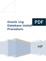 Oracle 11g Database Install Procedure