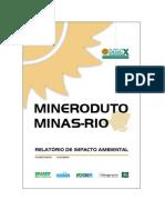 RIMA Mineroduto Minas-Rio