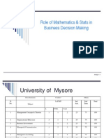Ch 01 Role of Stats & Maths Mysore