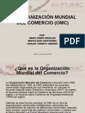 Semejanzas Y Diferencias Entre El Gatt Y La Omc Acuerdo