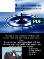 Water Presentation for DROP