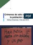 Crímenes de odio contra la población LGBTI
