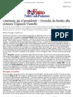 a Quirinale, gli 11 presidenti – Gronchi, da Benito alla censura Tognazzi-Vianello - Il Fatto Quotidiano