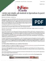A Diritto Allo Studio, Gli Studenti Si Riprendono La Parola Con Il Referendum - Federico Del Giudice - Il Fatto Quotidiano