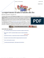 A La Supervisione Di Tutte Le Banche Alla Bce - Luciano Giovannetti - Il Fatto Quotidiano