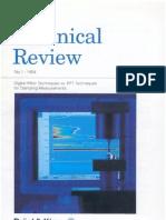 Digital Filter Techniques vs FFT Techniques for Damping Measurements