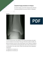 Orthopaedic Critiques
