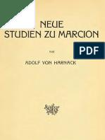 Harnack Adolf Von Neue Studien Zu Marcion